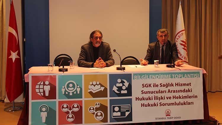 SGK ile Sağlık Hizmet Sunucuları Arasındaki Hukuki İlişki ve Hekimlerin Hukuki Sorumlulukları Toplantısı Yapıldı