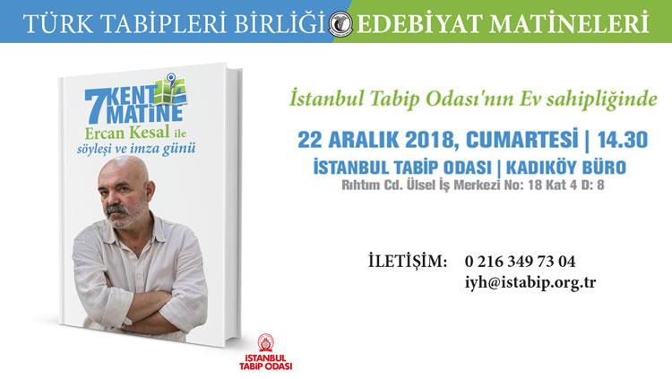 Edebiyat Matinesi: Dr. Ercan Kesal ile söyleşi ve imza günü
