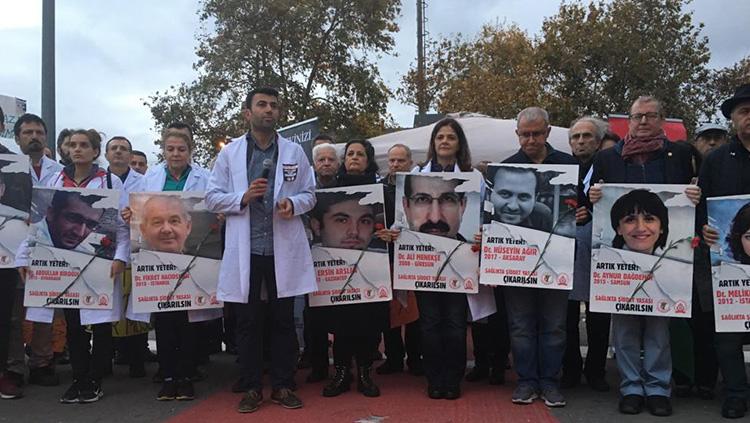 Sağlıkta Şiddete Karşı 5. Gün nöbetinde İstanbul Veteriner Hekimler Odası bizimleydi