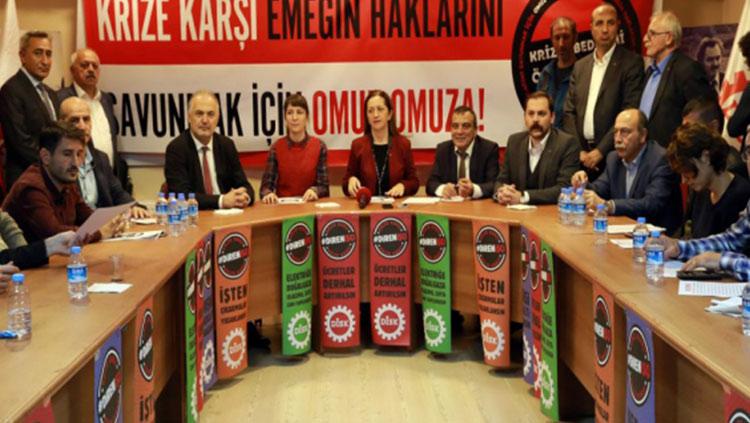 Sendikalar, meslek ve demokratik kitle örgütlerinden krize karşı ortak deklarasyon
