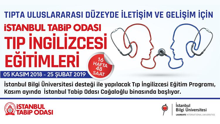 Tıp İngilizcesi Eğitim Programı, İstanbul Tabip Odası'nda Kasım ayında başlıyor