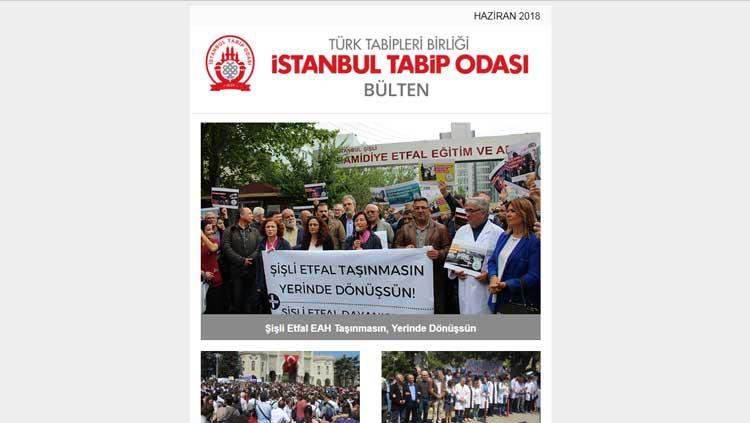 İstanbul Tabip Odası E-Bülteni Haziran Sayısı Yayımlandı