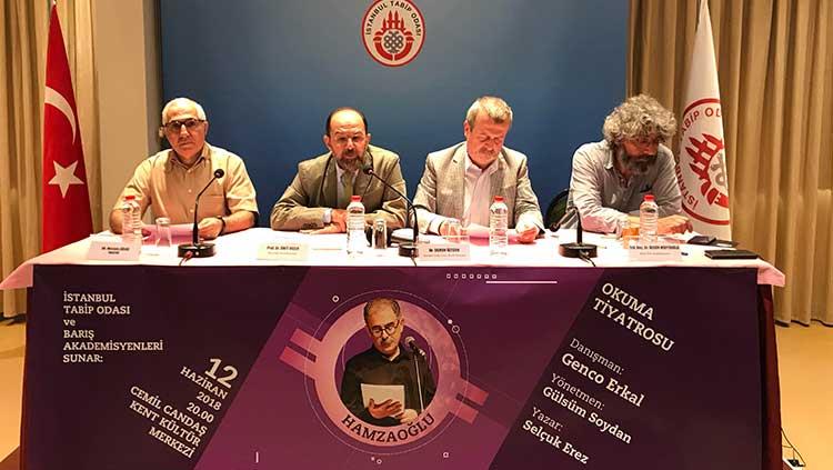 İstanbul Tabip Odası ve Barış Akademisyenleri  Prof. Dr. Onur Hamzaoğlu İçin Sahnede