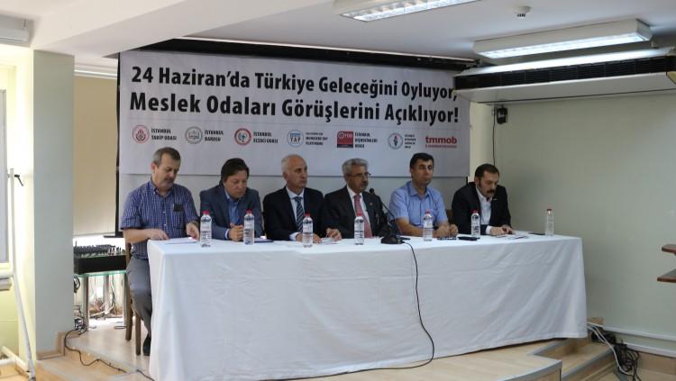 İstanbul Meslek Odaları Koordinasyonu'ndan 24 Haziran Seçimlerine Dair Ortak Açıklama