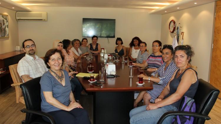 KESK Kadın Meclisinden Dr. Pınar Saip'e Ziyaret