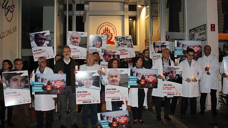 Sağlık Torba Yasası'na Karşı Tüm Ülkede ve İstanbul'da Nöbetteydik