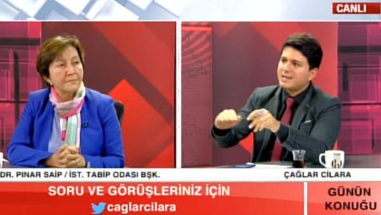 Oda Başkanımız Dr. Pınar Saip Sağlık Torba Yasası gündemiyle Halk TV'ye konuk oldu