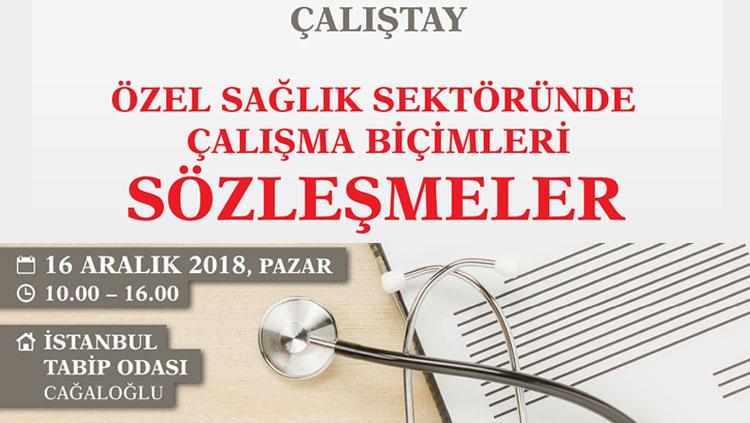 Çalıştay: Özel Sağlık Sektöründe Çalışma Biçimleri / Sözleşmeler