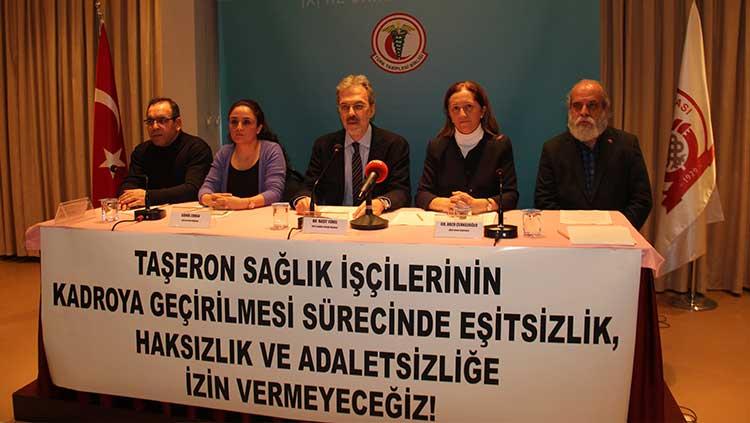 Taşeron Sağlık İşçilerinin Kadroya Geçirilmesi Sürecinde Eşitsizlik, Haksızlık Ve Adaletsizliğe İzin Vermeyeceğiz!