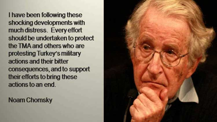 Noam Chomsky: TTB'yi Korumak İçin Her Türlü Önlem Alınmalı!