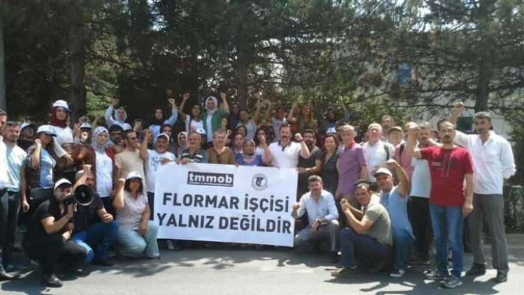 Sendika hakları için direnen Flormar işçilerine dayanışma ziyareti