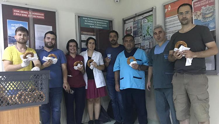 Şişli Etfal EAH'de Yemekhane Eylemi Kazanımla Sonuçlandı
