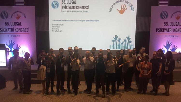 55. Ulusal Psikiyatri Kongresi'nde Sağlıkta Şiddete Karşı Eğitim Kursu Gerçekleştirdik