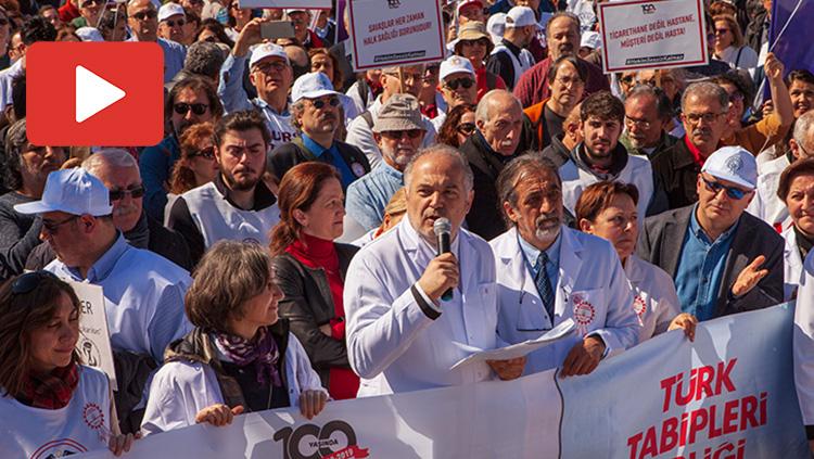 TTB Başkanı Dr. Sinan Adıyaman'ın Büyük Hekim Yürüyüşü Konuşması