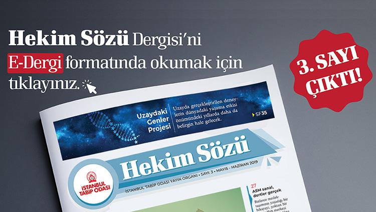 Hekim Sözü'nün Mayıs-Haziran Sayısı Yayınlandı