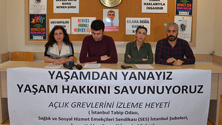 Cezaevlerindeki Açlık Grevlerine İlişkin Ortak Basın Toplantısı Yapıldı
