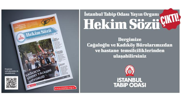 """Yeni dergimiz """"Hekim Sözü"""" çıktı"""