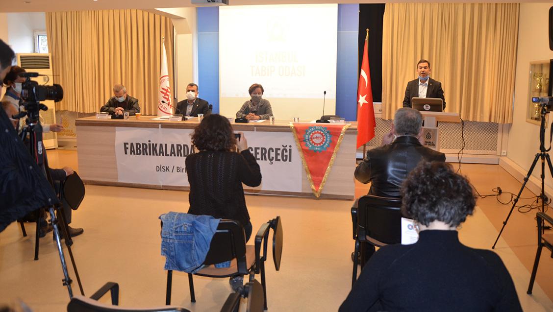 Birleşik Metal-İş COVİD-19 Raporunu İstanbul Tabip Odası'nda Açıkladı