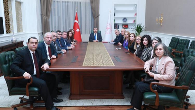Sağlık meslek örgütleri temsilcileri Sağlık Bakanı Fahrettin Koca ile görüştü