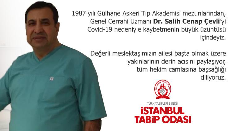 Dr. Salih Cenap Çevli COVID-19 nedeniyle yaşamını yitirdi. Çok üzgünüz!