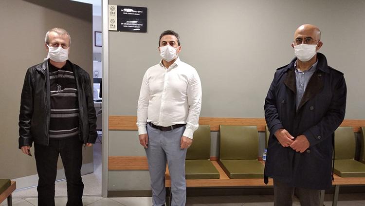 Dr. Cenap Çevli'nin çalıştığı hastaneye ziyaret