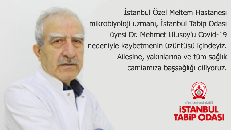 Dr. Mehmet Ulusoy'u Kaybetmenin Büyük Üzüntüsü İçindeyiz