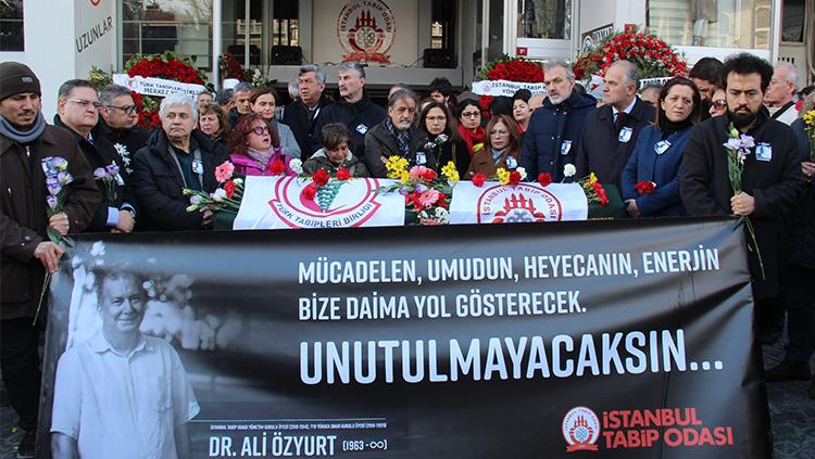 TTB ve İstanbul Tabip Odası'nın 30 yıllık Emekçisi Dr. Ali Özyurt'u Sonsuzluğa Uğurladık