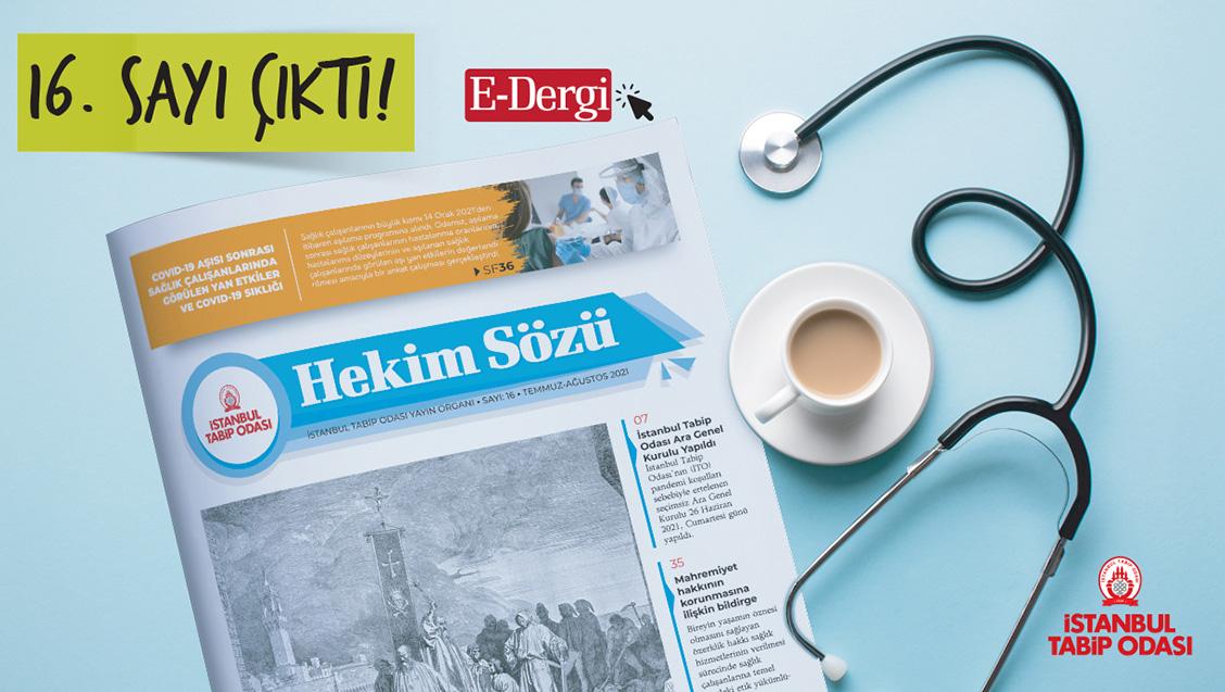 Hekim Sözü (Sayı 16) Temmuz-Ağustos 2021