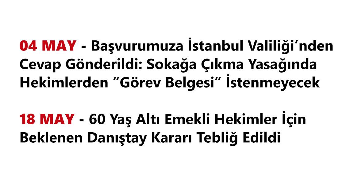 Mayıs Ayı İstanbul Tabip Odası Duyuruları
