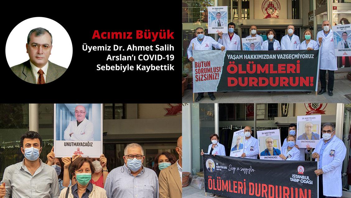 Mayıs Ayında COVID-19 Nedeniyle Kaybettiğimiz Dr. Süreyya Salihustaoğlu,Dr. Sabahattin Gül, Dr. Nurettin Kaya ve Dr. Osman Arıkan  için Saygı Duruşundaydık.