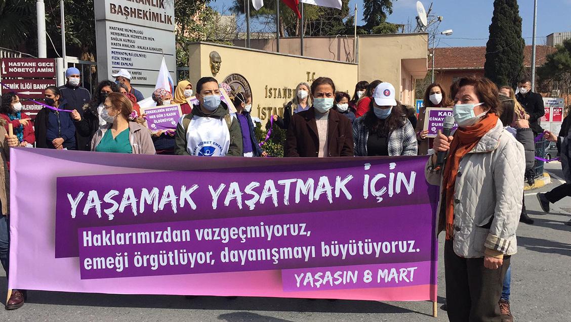 Hastanelerde Basın Açıklamaları: Yaşasın 8 Mart! Yaşasın Kadın Dayanışması!
