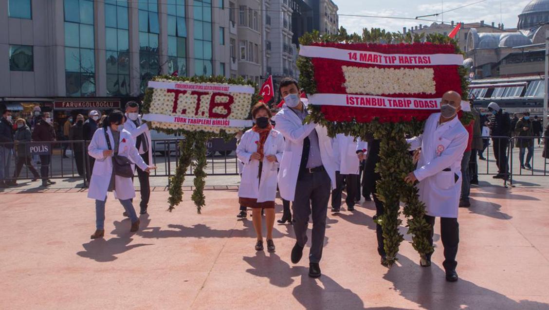 14 Mart Tıp Haftası Etkinlikleri Kapsamında  Taksim Anıt Töreni, Cerrahpaşa Tıp Fakültesi Ziyareti Gerçekleştirildi.