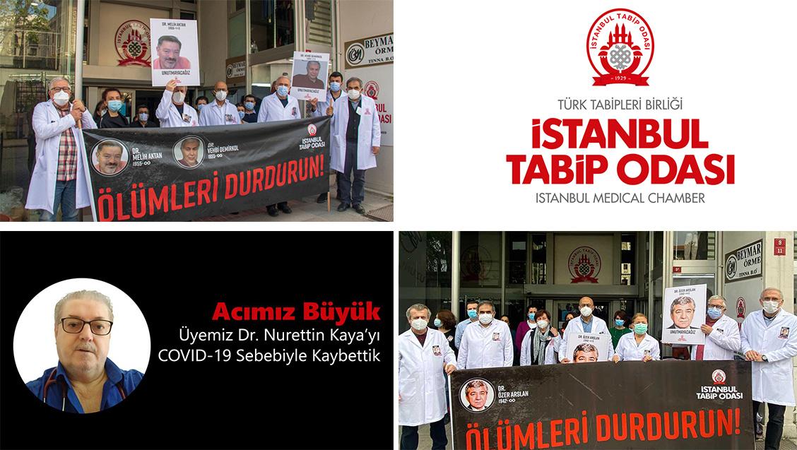 Nisan Ayında COVID-19 Nedeniyle Kaybettiğimiz Dr Melih Aktan, Dr Vehbi Demirkol, Dr Özer Arslan ve Dr Nuri Kaya için Saygı Duruşundaydık.