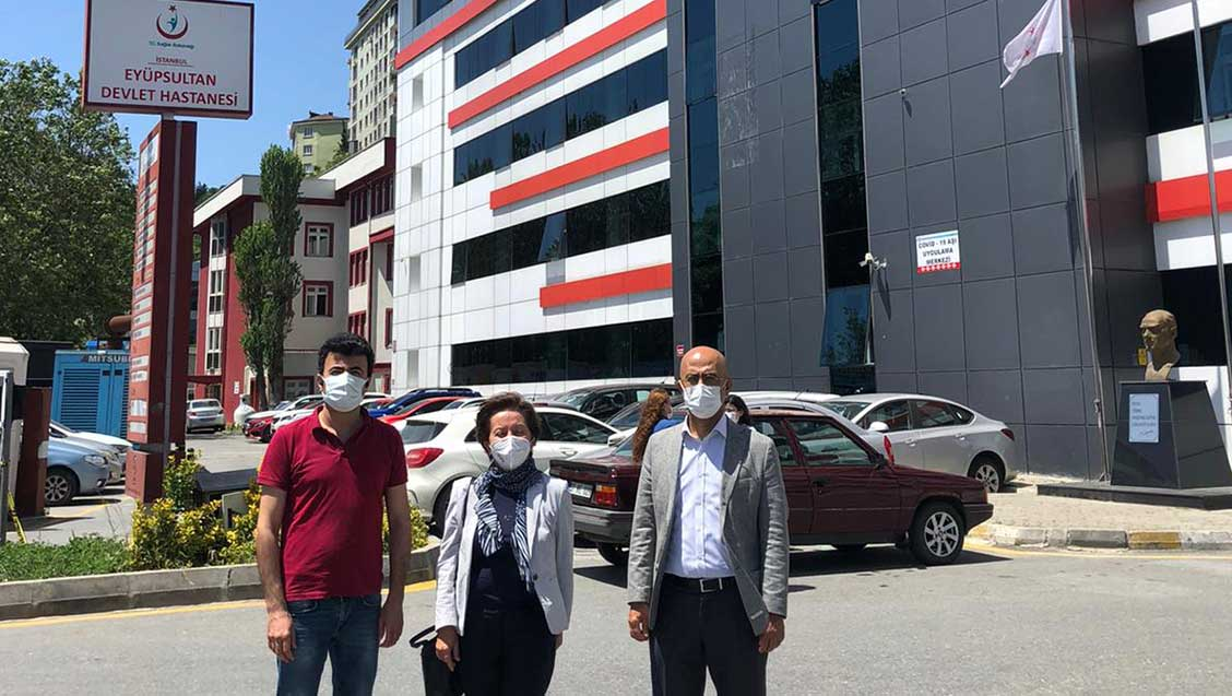 Yönetim Kurulumuz EyüpSultan Devlet Hastanesi'ni Ziyaret Etti