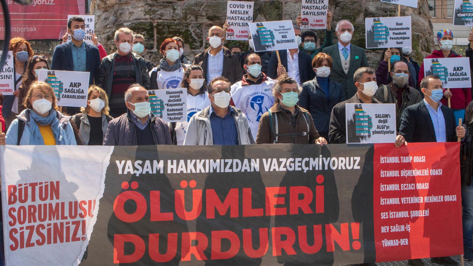 Sağlık Meslek Örgütlerinden Ortak Açıklama: Ölümleri Durdurun!