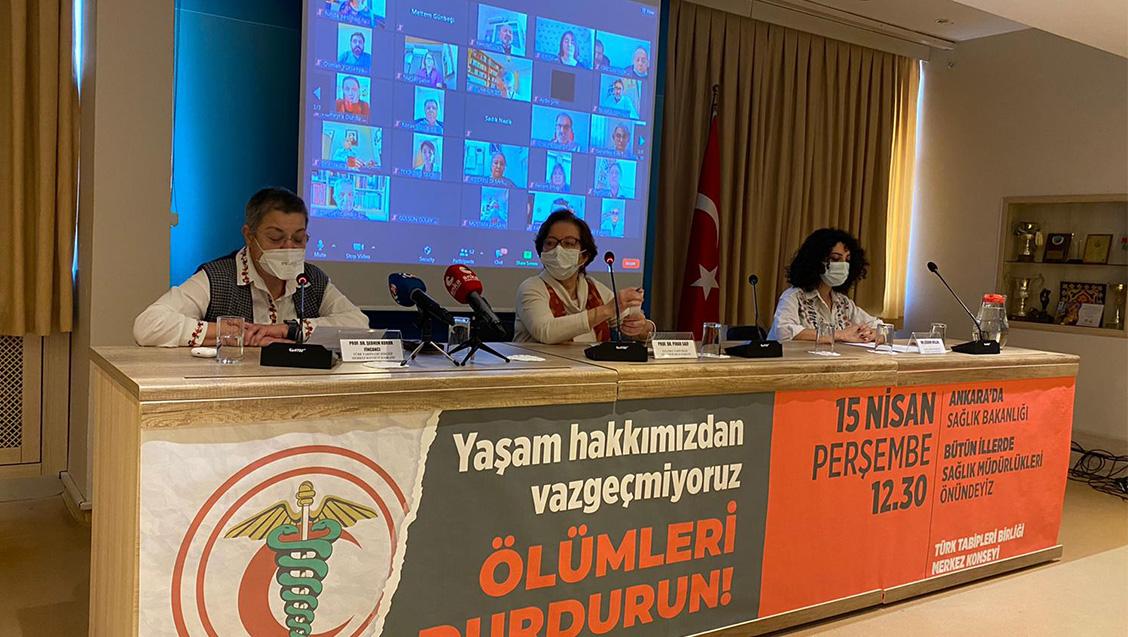 15 Nisan'da Ankara'da Sağlık Bakanlığı'nın, Bütün İllerde Sağlık Müdürlüklerinin Önündeyiz: Yaşam Hakkından Vazgeçmiyoruz!
