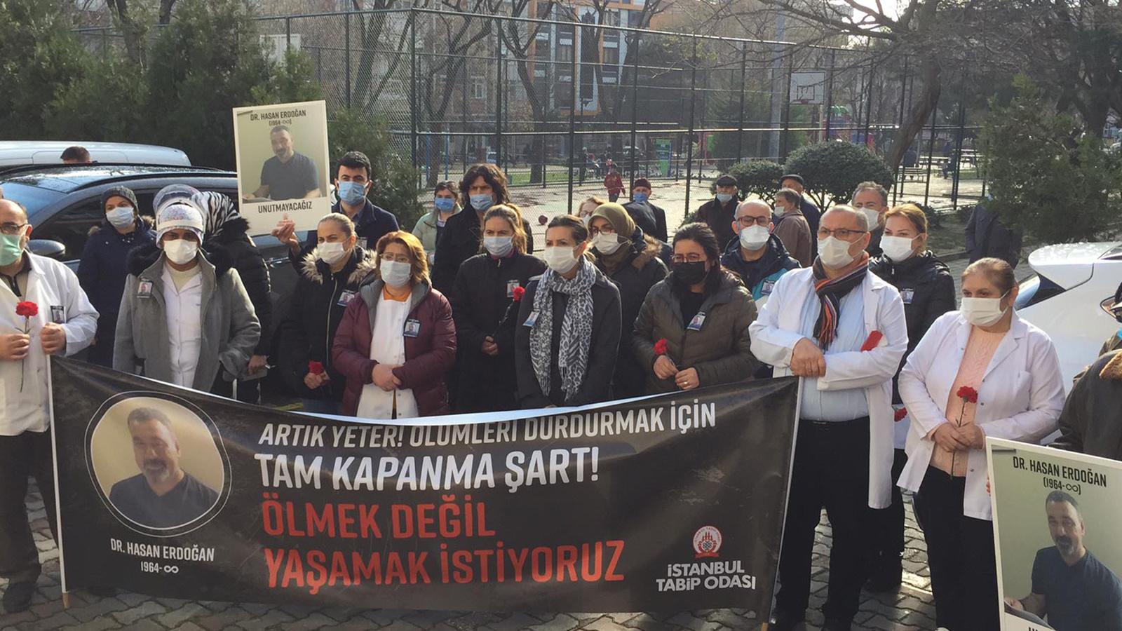 COVID-19 Sebebiyle Yitirdiğimiz Dr. Hasan Erdoğan İçin Saygı Duruşu