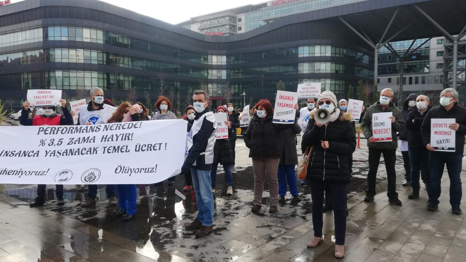 Sağlık Çalışanlarından Ortak Basın Açıklamaları: Güvenceli Tek Ücret