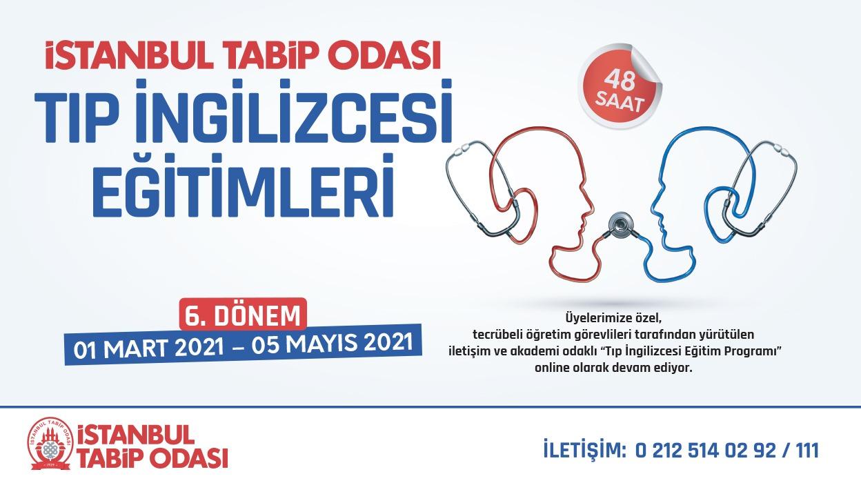 Tıp İngilizcesi Eğitim Programı, İstanbul Tabip Odası'nda Mart ayında başlıyor