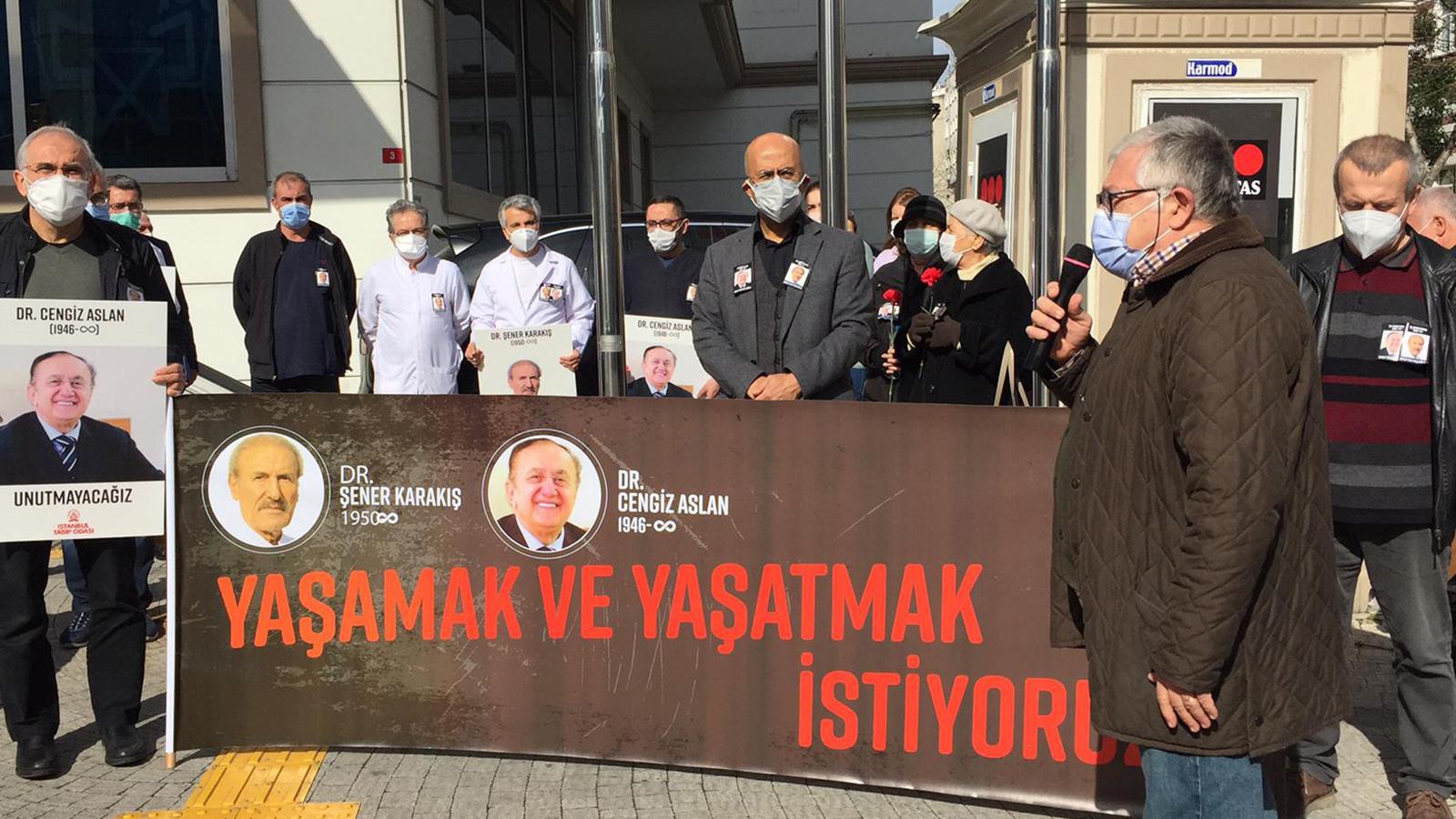 COVID-19 Sebebiyle Yitirdiğimiz Dr. Şener Karakış ve Dr. Cengiz Aslan İçin Saygı Duruşu