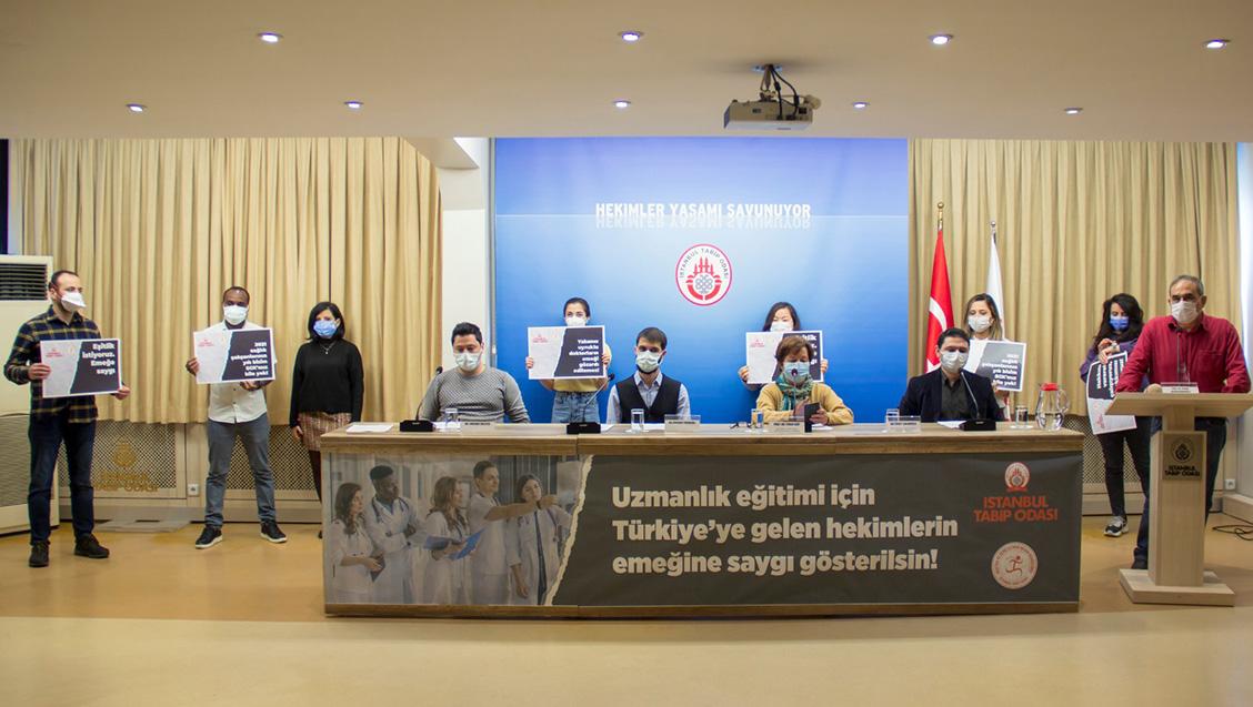 Basın Toplantısı: Yabancı Uyruklu Asistan Hekimlerin Emeğine Saygı Gösterilmelidir