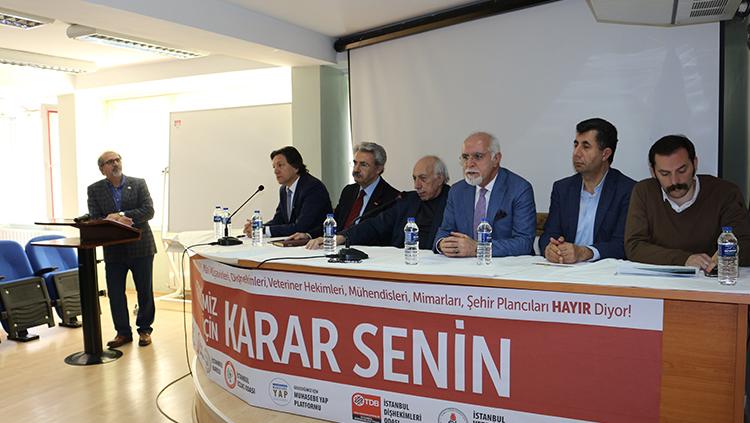 """İstanbul Meslek Odaları Koordinasyonu: """"Geleceğimiz İçin Hayır Diyoruz"""""""