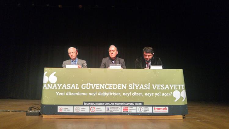 Anayasal Güvenceden Siyasi Vesayete Paneli Yapıldı